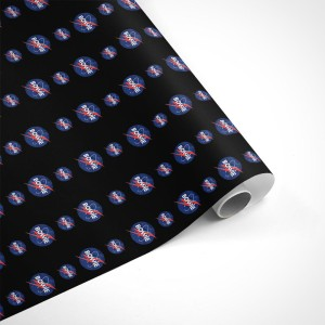David Bowie Blue Flash Wrapping Paper