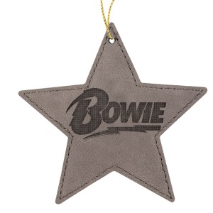Logo Leather Star Ornament