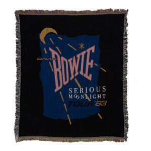 David Bowie Serious Moonlight Throw Blanket
