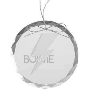 Bold Round Laser-Etched Glass Ornament