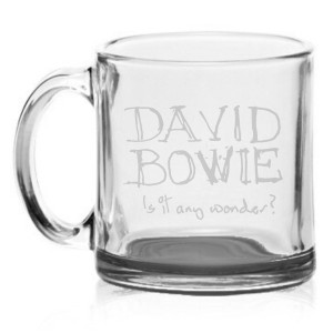 Is it any wonder? Etched Glass Mug