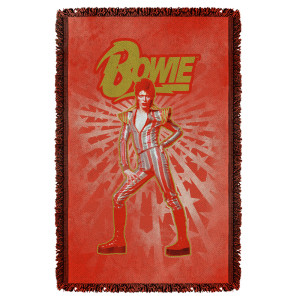 David Bowie/Stars - Woven Throw - White [36 X 58]
