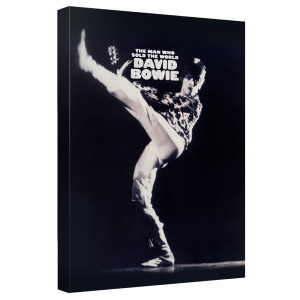 David Bowie/The Man Who Sold The World - Canvas Wall Art With Back Board - White [20 X 30]
