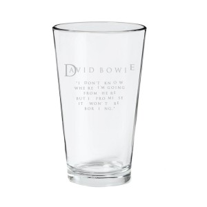 I Don't Know Etched Pint Glass