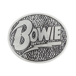 David Bowie Silver Finish Belt Buckle