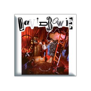 """David Bowie Let Me Down 1.5"""" Square Button"""