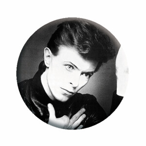"""David Bowie Heroes 1.25"""" Button"""
