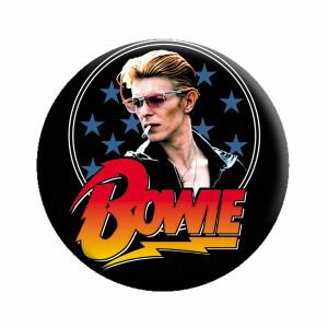 """David Bowie Stars 1.25"""" Button"""