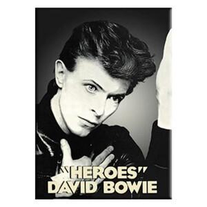 "David Bowie Heroes 2.5""x3.5"" Magnet"