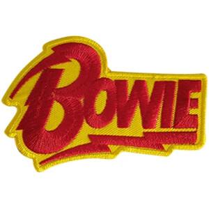 "David Bowie Bolt Logo 10.4""x6.3"" Oversized Patch"