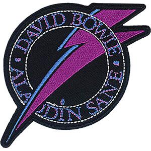 "David Bowie Aladdin Bolt 3.3""x3.4"" Patch"