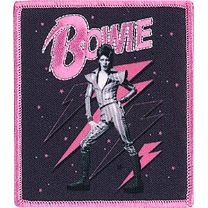 "David Bowie Pink Bolts 3.3""x3.8"" Patch"