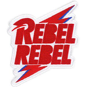 "David Bowie Rebel Rebel Bolt 3.9""x3.3"" Patch"