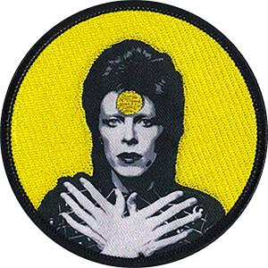 """David Bowie Ziggy 3.5"""" Round Patch"""