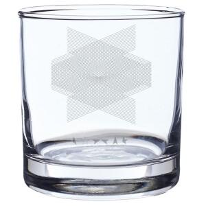 Blackstar Laser- Etched Rocks Glass