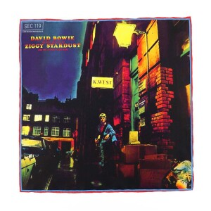 David Bowie Rise and Fall of Ziggy Stardust Pocket Square