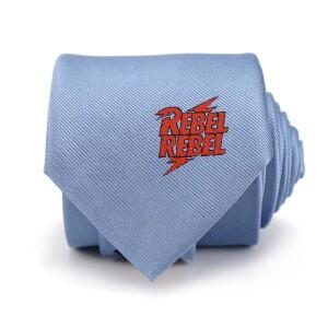 David Bowie Light Blue Rebel Rebel Tie