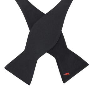 David Bowie Black Bolt Bow Tie (Self-tied)