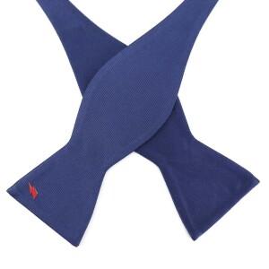 David Bowie Navy Bolt Bow Tie (Self-Tied)