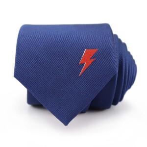David Bowie Navy Single Bolt Tie