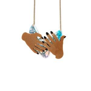 Bowie Hands Necklace