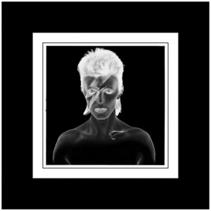 Duffy 'Aladdin Sane B/W Negative' Print (Mounted, Black)