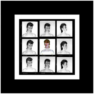 Duffy 'Aladdin Sane Demi Contact' Print (Mounted, Black)