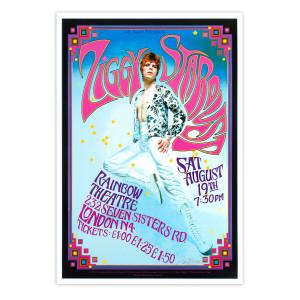 Bowie Ziggy Stardust Rainbow Theatre Poster