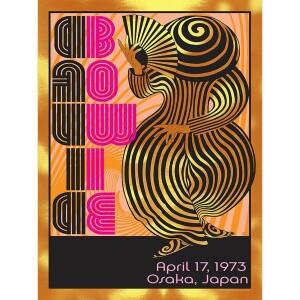 DAVID BOWIE APRIL 17, 1973 OSAKA, JAPAN GOLD FOIL VARIANT POSTER