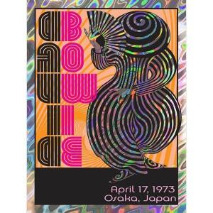 DAVID BOWIE APRIL 17, 1973 OSAKA, JAPAN LAVA FOIL VARIANT POSTER