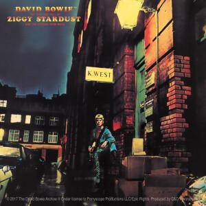 """David Bowie Ziggy Stardust 4""""x4"""" Sticker"""