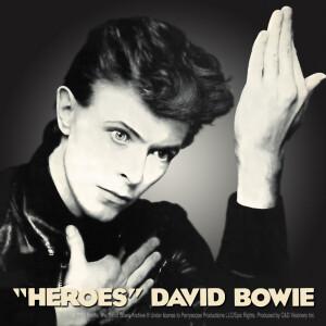 "David Bowie Heroes 4""x4"" Sticker"