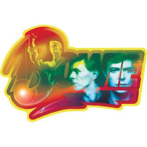 """David Bowie Photo Logo 5""""x3.5"""" Sticker"""