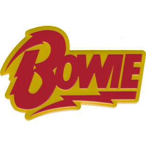 "David Bowie Bolt Logo 4""x2.6"" Metal Sticker"
