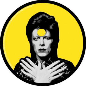 """David Bowie Ziggy 4"""" Round Sticker"""