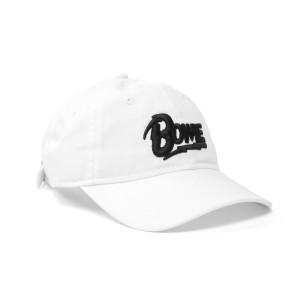 Bowie Black Lettering White Hat