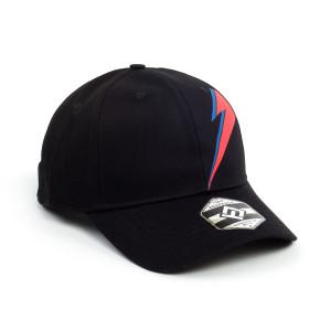 Red & Blue Bowie Bolt Black Snapback Hat