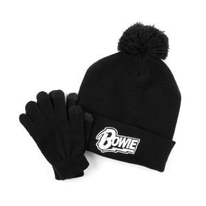 Bowie Logo Beanie & Gloves Set