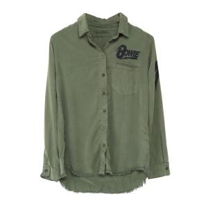 Lauren Moshi Lightning Bolt Soft Button Up Shirt