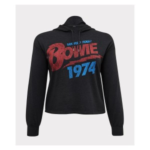 David Bowie 1974 World Tour Cropped Hoodie