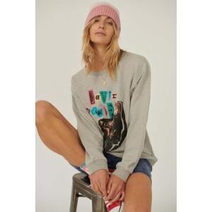 David Bowie Collage Graphic Sweatshirt
