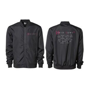 """David Bowie """"I Don't Know Where I'm Going From Here"""" Quote Lightweight Bomber Jacket"""