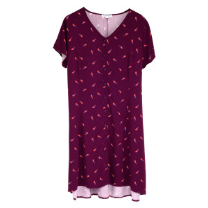 David Bowie Girls Burgundy Bolt Dress