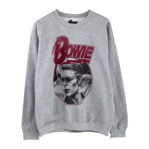 David Bowie '76 Grey Sweatshirt