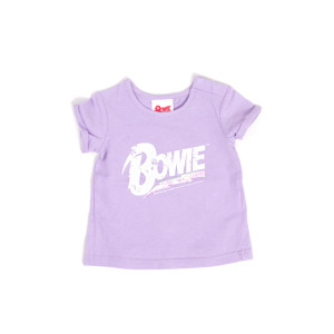 Bowie Glitter Logo Purple Kids T-Shirt