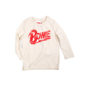 Bowie Kids Long Sleeve Red Logo T-shirt