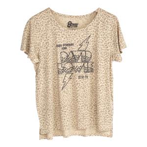 Ladies Leopard Print Ziggy Stardust Tour T-shirt