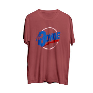 David Bowie Foil Circle Logo Red T-shirt