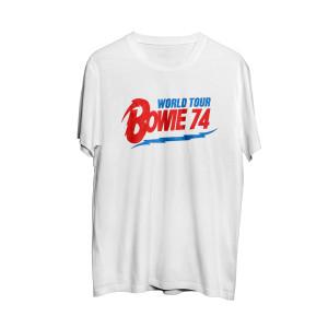 David Bowie World Tour '74 White T-Shirt