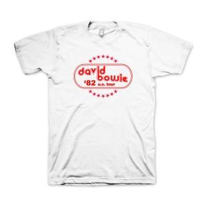 David Bowie '82 US Tour White T-shirt